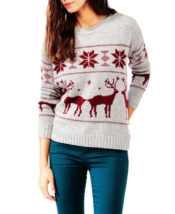 Tribal Aztec Print Crochet Christmas Snowflake Sweater - Knitted ...