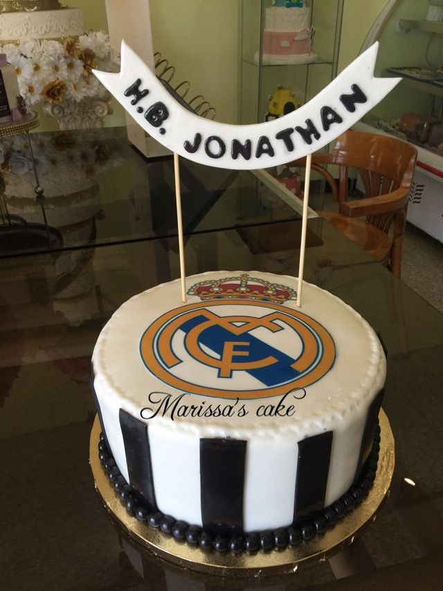 Real Madrid Birthday Cake Visit Us Facebookmarissascake Or Www