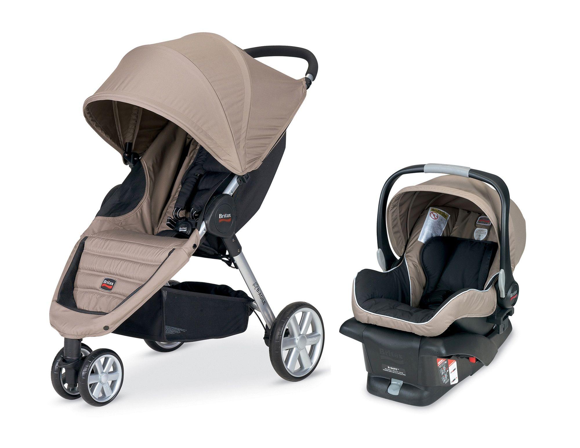 Britax BAgile Travel System Stroller Sandstone Baby
