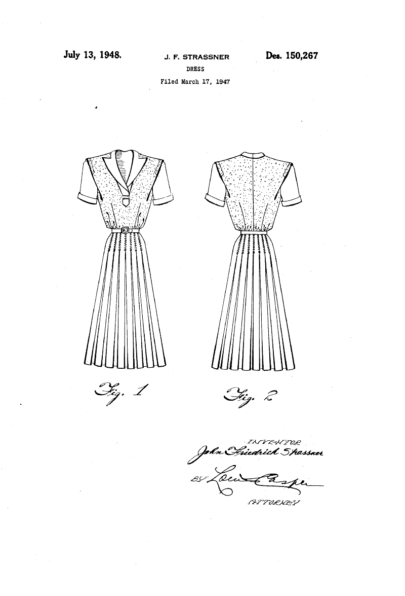 design for a dress john friedrich strassner fashion