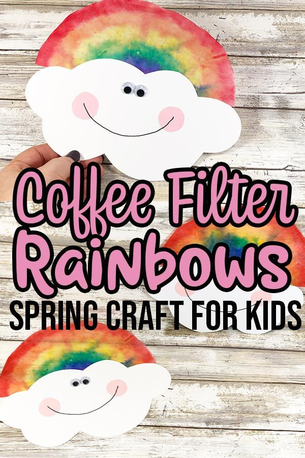 Coffee Filter Rainbow Spring Craft