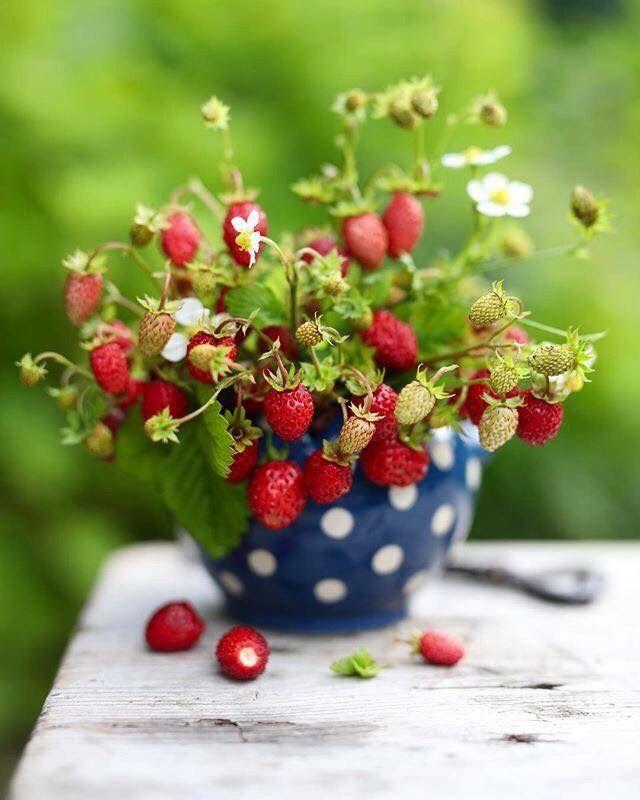 Открытки с ягодами с добрым утром, днем