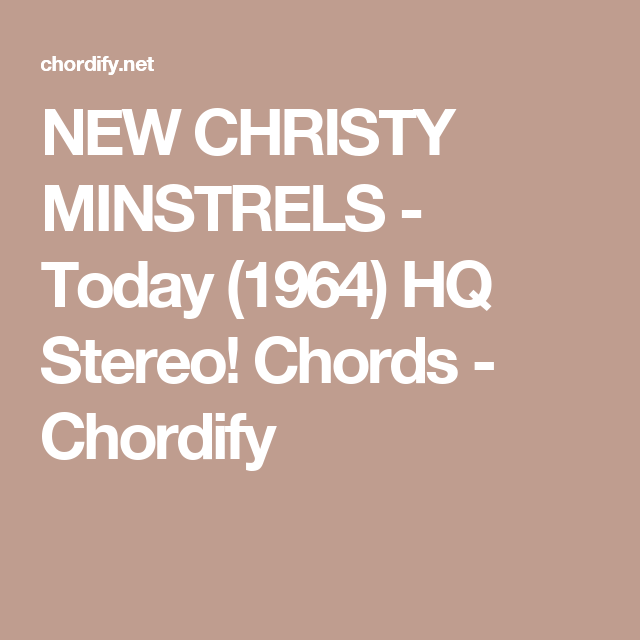 Today (1964) HQ Stereo! Chords