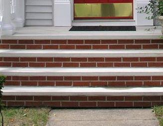 Decision Hopefully Brick Steps Brick Face Porch Steps
