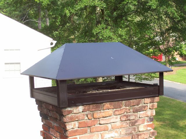 Custom Chimney Cap By Advanced Chimney Sweeps Of Marietta