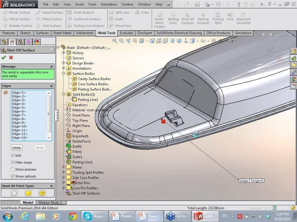 AppliCAD ปล่อยของ - การใช้ SolidWorks กับการออกแบบแม่พิมพ์พลาสติก