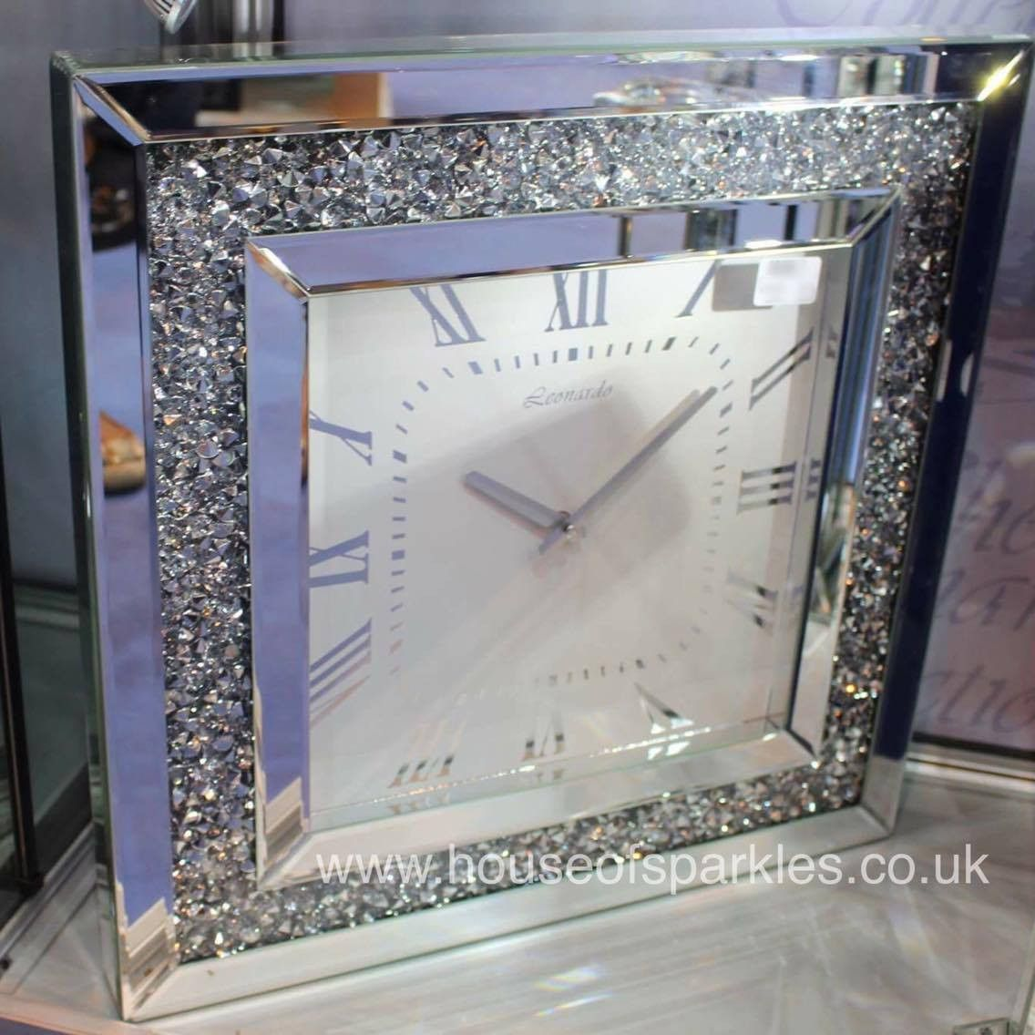 Luxury Diamond Crush Wall Clock House Of Sparkles 1