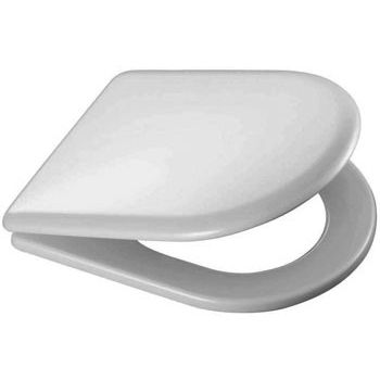 wooden d shaped toilet seat. Carrara And Matta Quadrarco 1 Moulded Wood D Shaped Toilet Seat  White Chrome