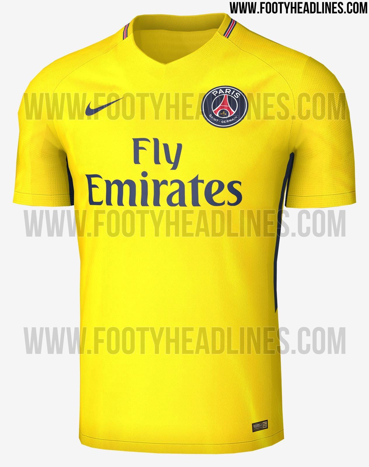 56a83152cd PSG terá camisa amarela em homenagem à jogadores brasileiros ...