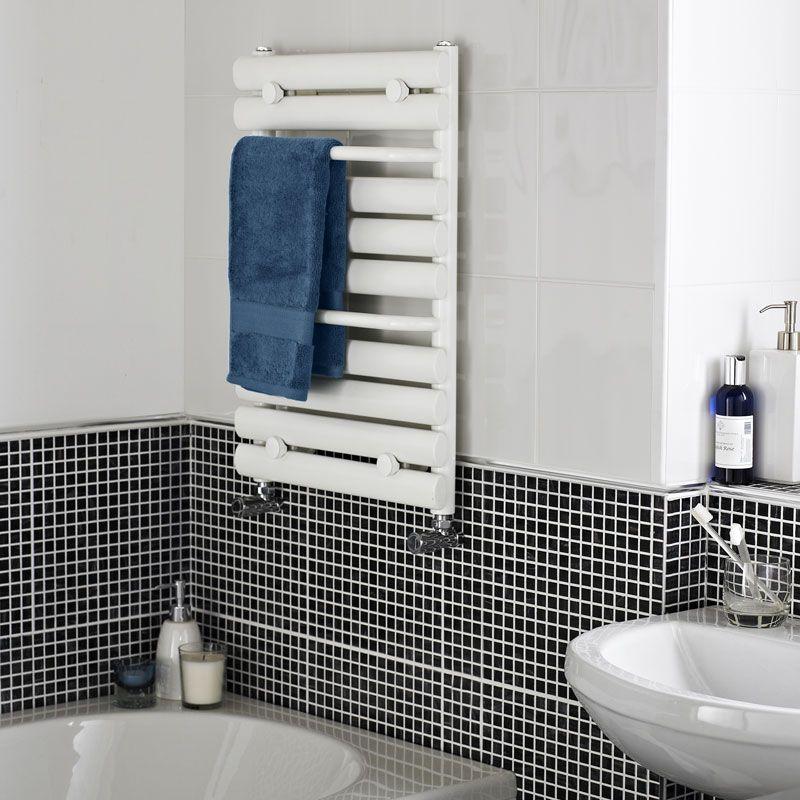 Toallero Para Bano.Radiador Toallero Para Bano Acero Blanco 650mm X 445mm