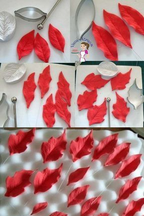 Gum Paste Poinsettia Tutorial, How to make Gumpaste Poinsettia Sugar Flowers #makeflowers