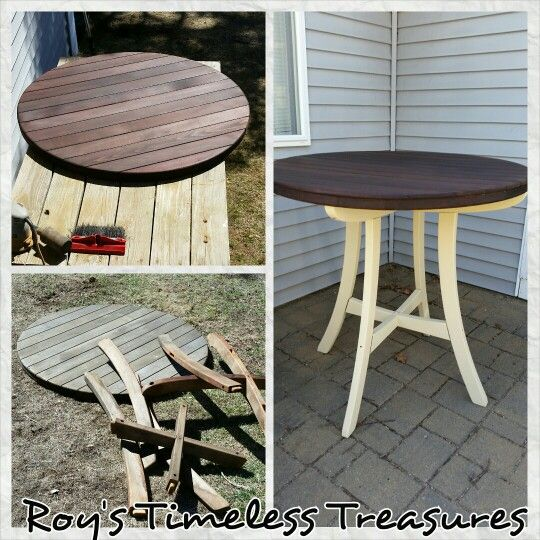 Pub Height Outdoor Table Created By Rita Roy Of S Timeless Treasures Tamworth Nh