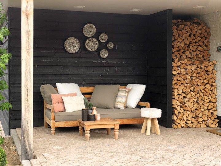 kawan lounge garten outdoor sofa teak recycled mit kissen | pool, Terrassen ideen