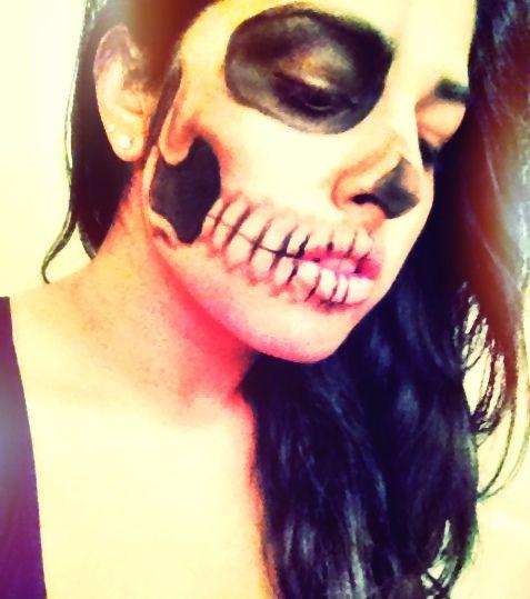 Lady GaGa-Born this Way skeleton face! | Skeleton face ...