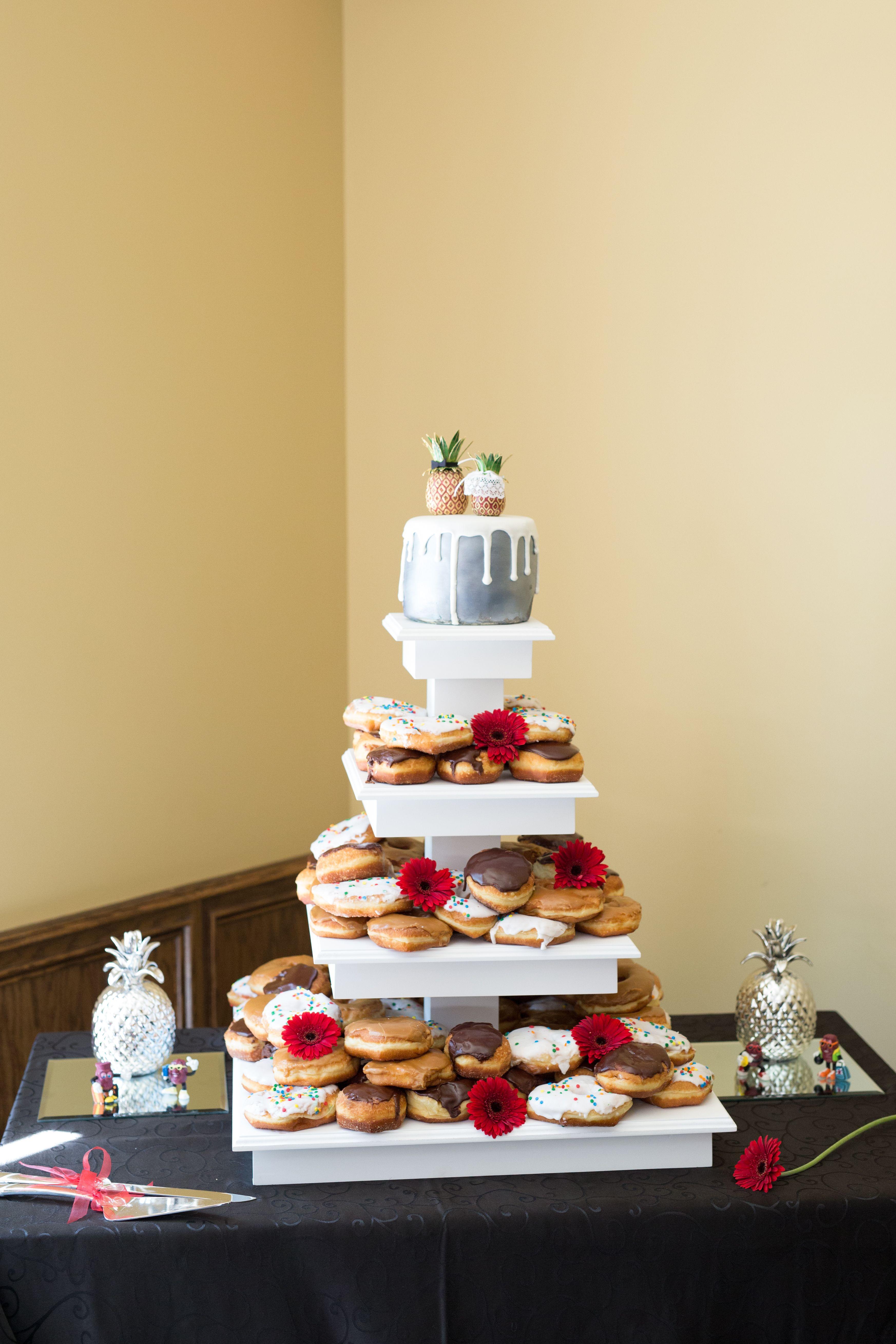 my donut cake from my wedding   Wedding ideas   Pinterest   Donut ...