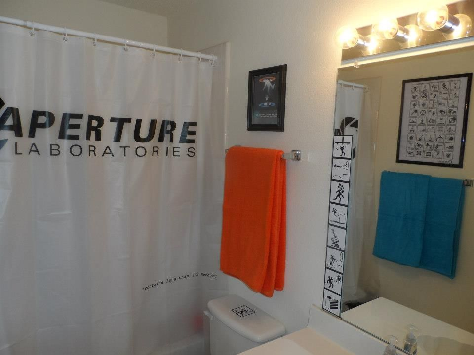 The Portal Bathroom Bathroom Decor Basic Shower Curtain