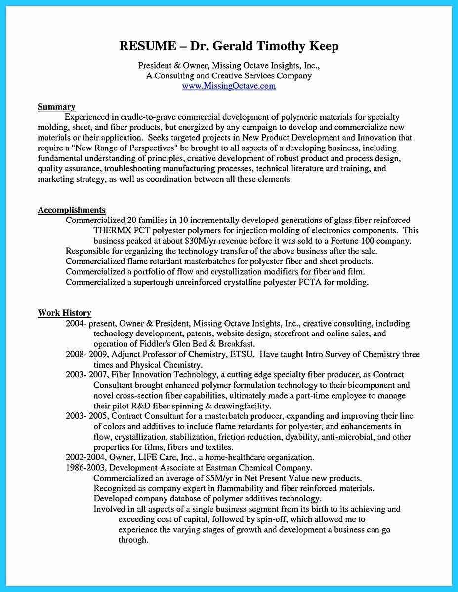 Small Business Owner Resume Examples Inspirational