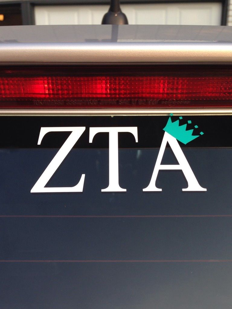 Zta car decal