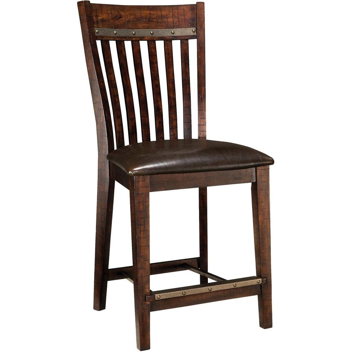 Super Hayden Rough Sawn Espresso Slatback Counter Height Barstool Machost Co Dining Chair Design Ideas Machostcouk