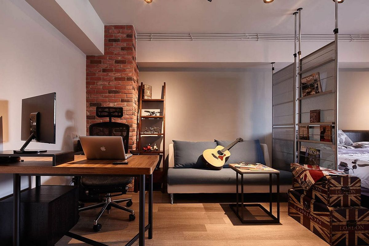 Tiny Industrial Loft Style Apartment In Taipei City Small