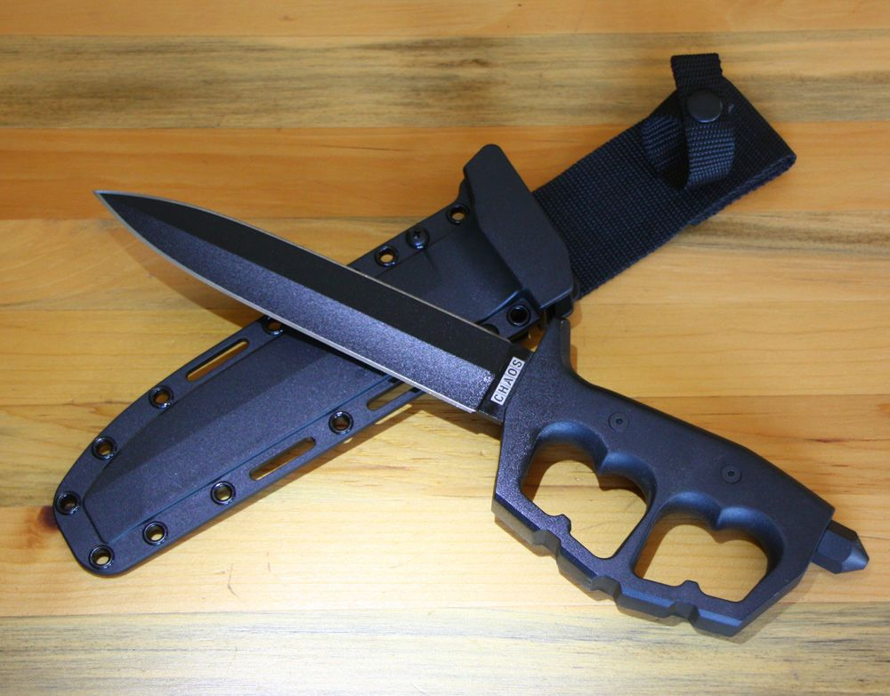 Cold Steel Chaos Double Edge Fixed Blade Trench Knife ...