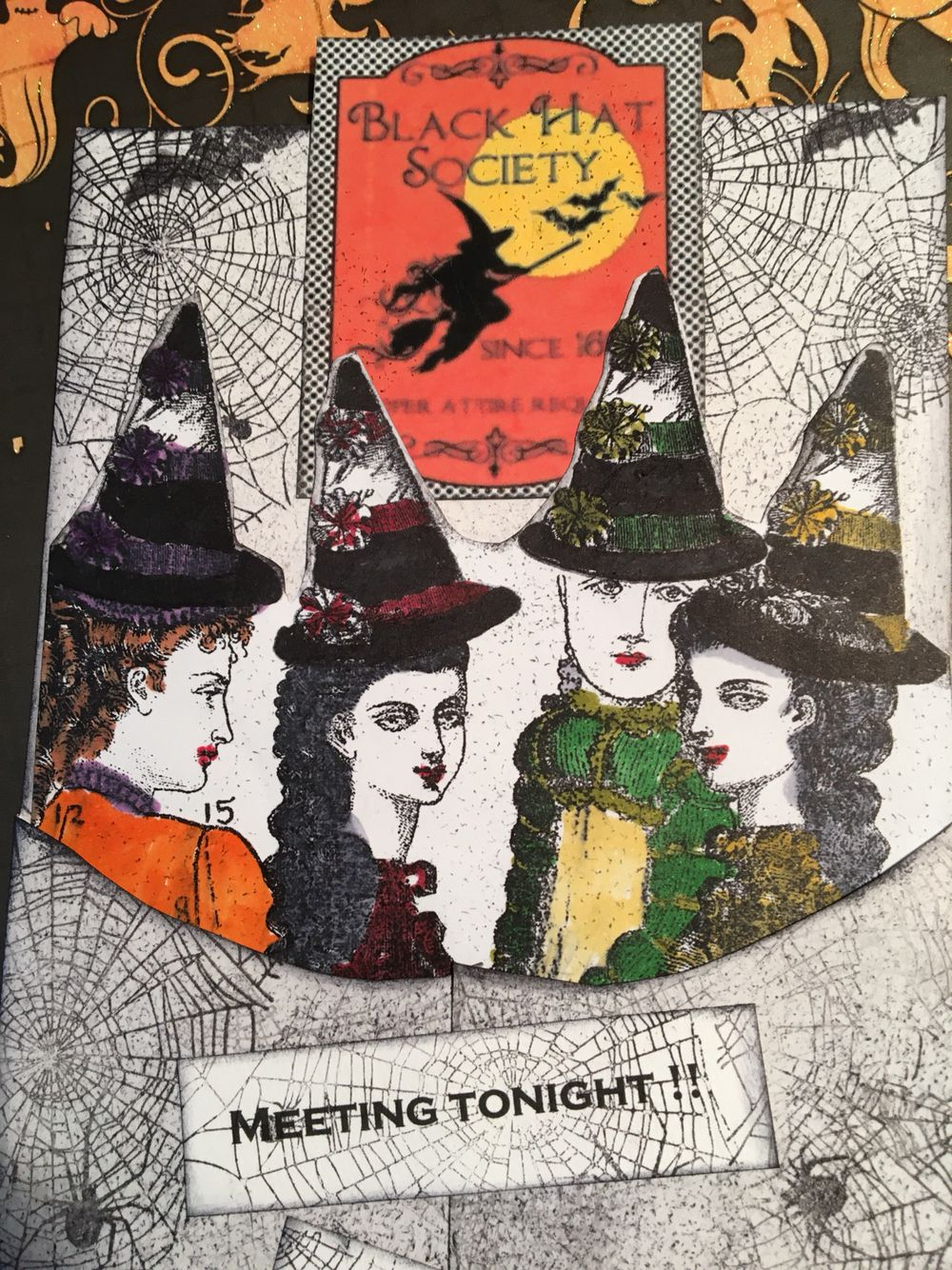 Witches, Witches, Witches Tag Swap October 2016 using Character Construction stamps. Artist: Cathy Arnold