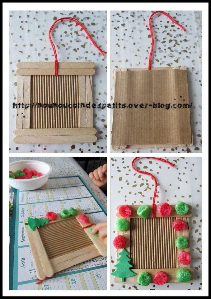 Petit cadeau pour les mamie pour noel un cadre en - Cadeau pour mamie a fabriquer ...