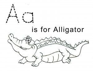 Alligator Coloring Pages For Kids Activity Sheets For Kids Learning English For Kids Name Coloring Pages