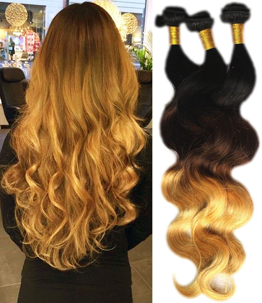 Uk Local Hot Sale Ombre Body Wave Real Human Hair Extension Grade 6a