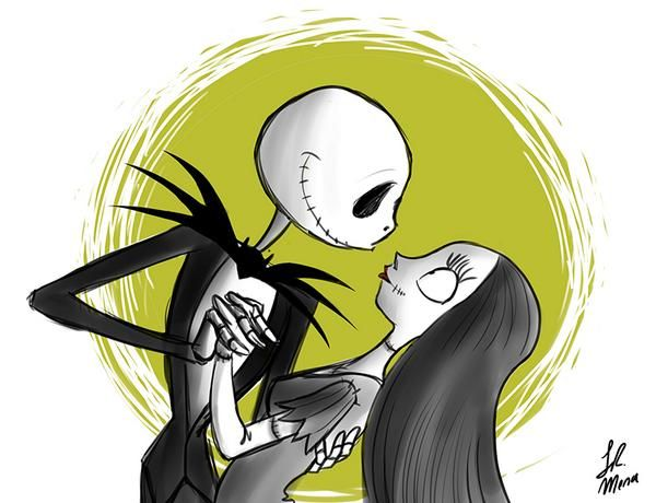 Jack and Sally by Lil R. Mena for @Sketch_Dailies