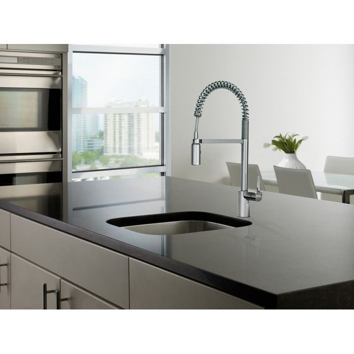 Align One Handle Pre-Rinse Spring Pulldown Kitchen Faucet | Kitchen ...