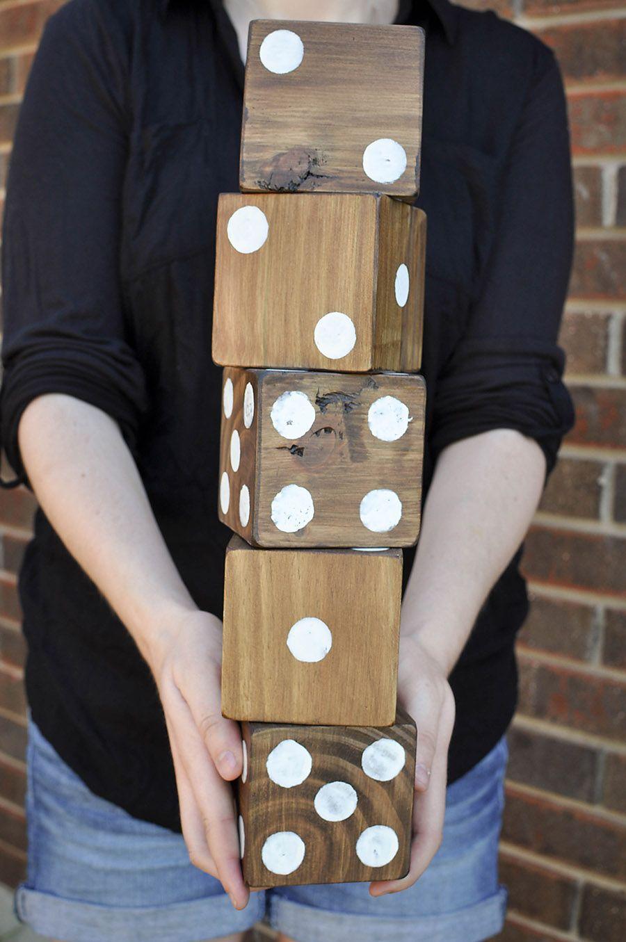 how to make giant yard dice  free printable yardzee