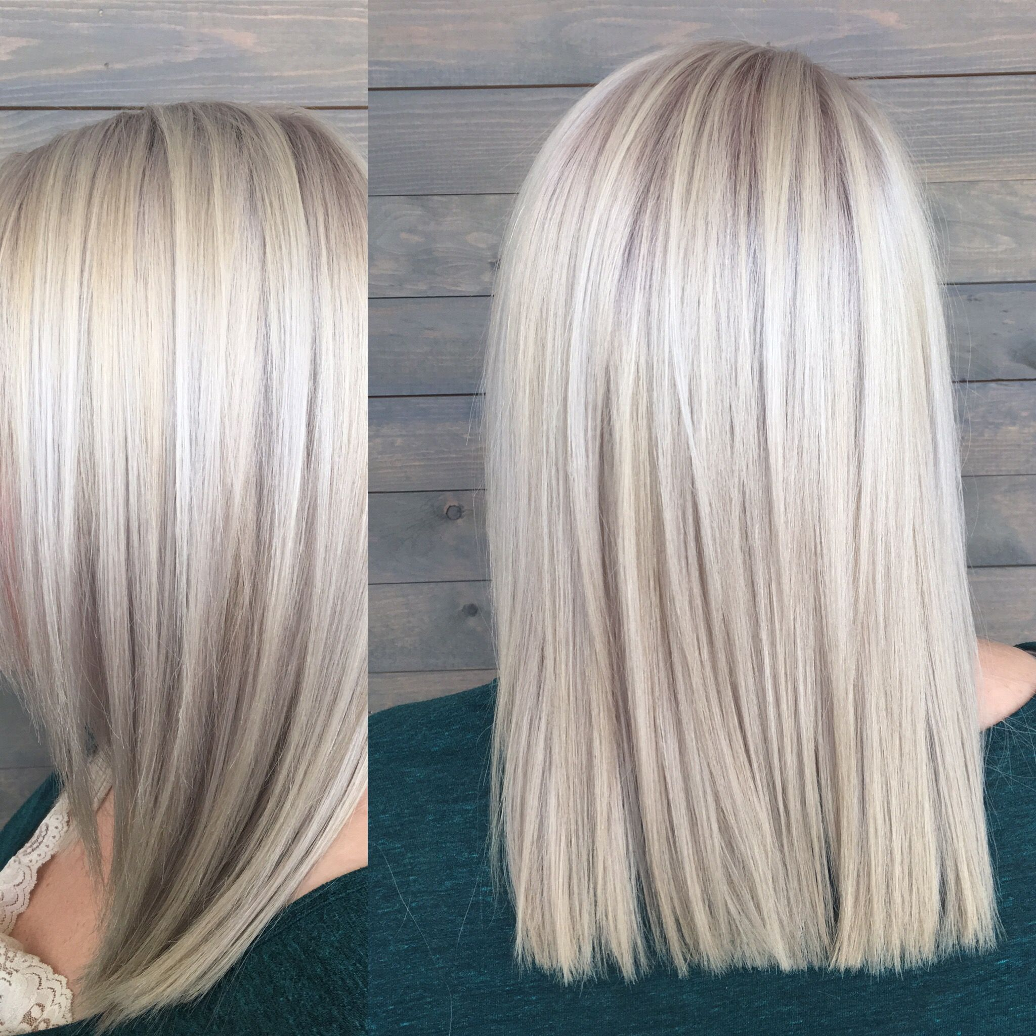 Platinum blonde done by Hunter Halverson at Image Studios in South Jordan, UT