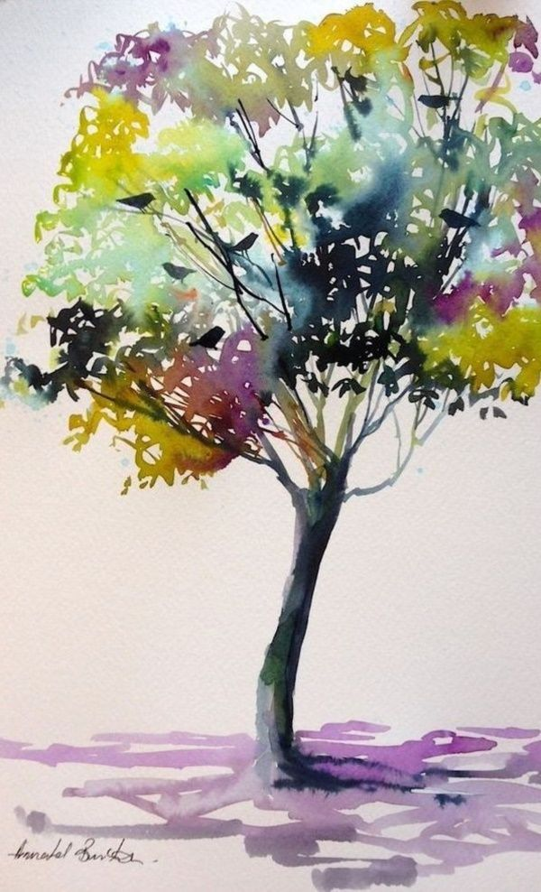 Easy Watercolor Painting Ideas For Beginners Aquarell