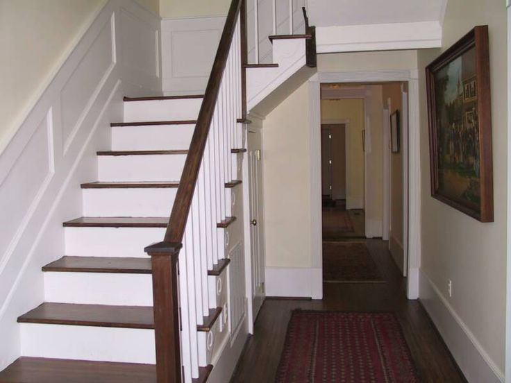 Image Result For Wood Stair Railing Riser Treads Color Match | Stairs |  Pinterest | Wood Stair Railings, Wood Stairs And Woods