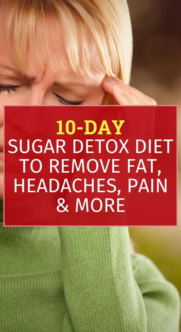 10-Day Sugar Detox Diet to Remove Fat, Headaches, Pain & More #sugardetoxplan