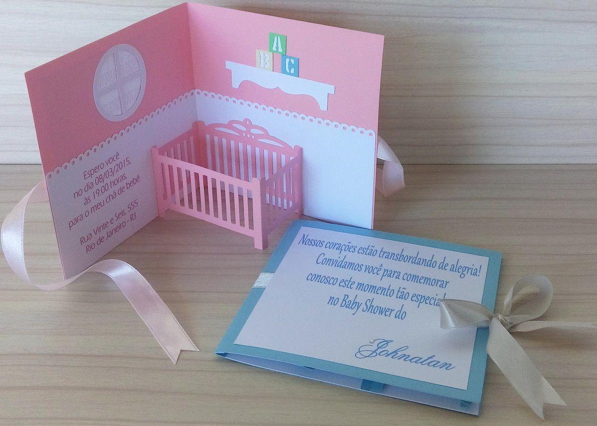 Convite Quarto Do Bebê Papel De Recado Baby Invitations Craft