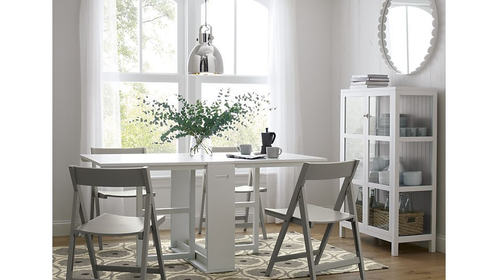 Span White Gateleg Dining Table Kitchen Folding