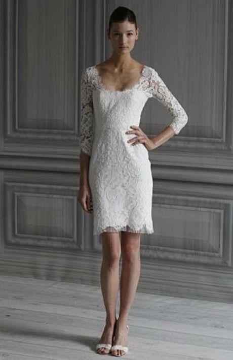 Kleid standesamt winter | Brautkleid kurz, Kleid ...