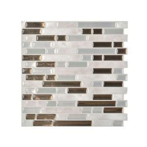 Peel And Stick Mosaic Decorative Wall Tile In Bellagio Smart Tiles Bellagio Grigio 1006 Inw X 1000 Inh Peel And