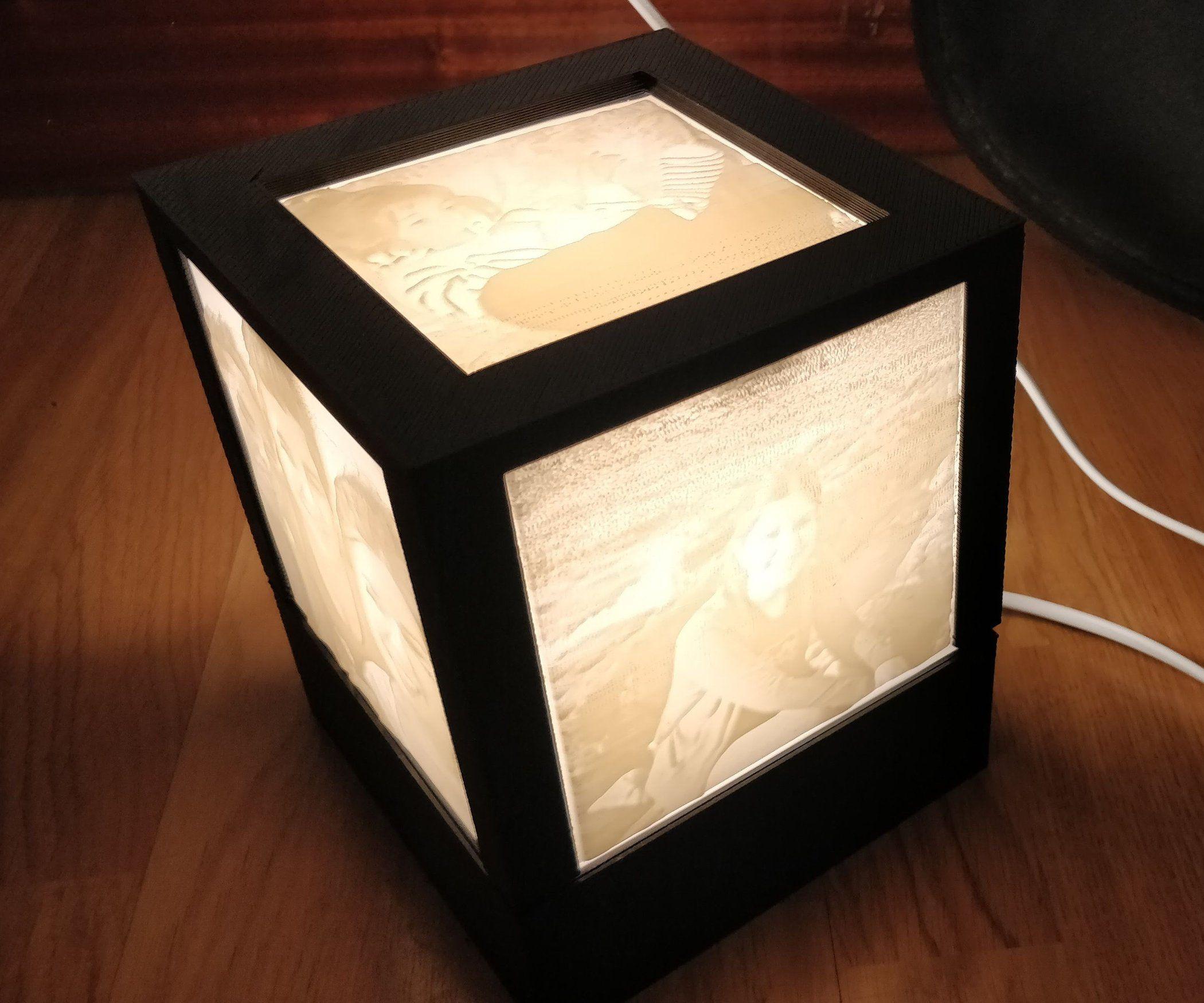 3d Printed Lithophane Lamp Lamp 3d Printing Paper Lamp