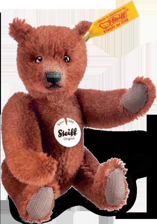 Steiff  Classic Teddy Bear In Russet, by Steiff teddy bears  12 cm  50 lb