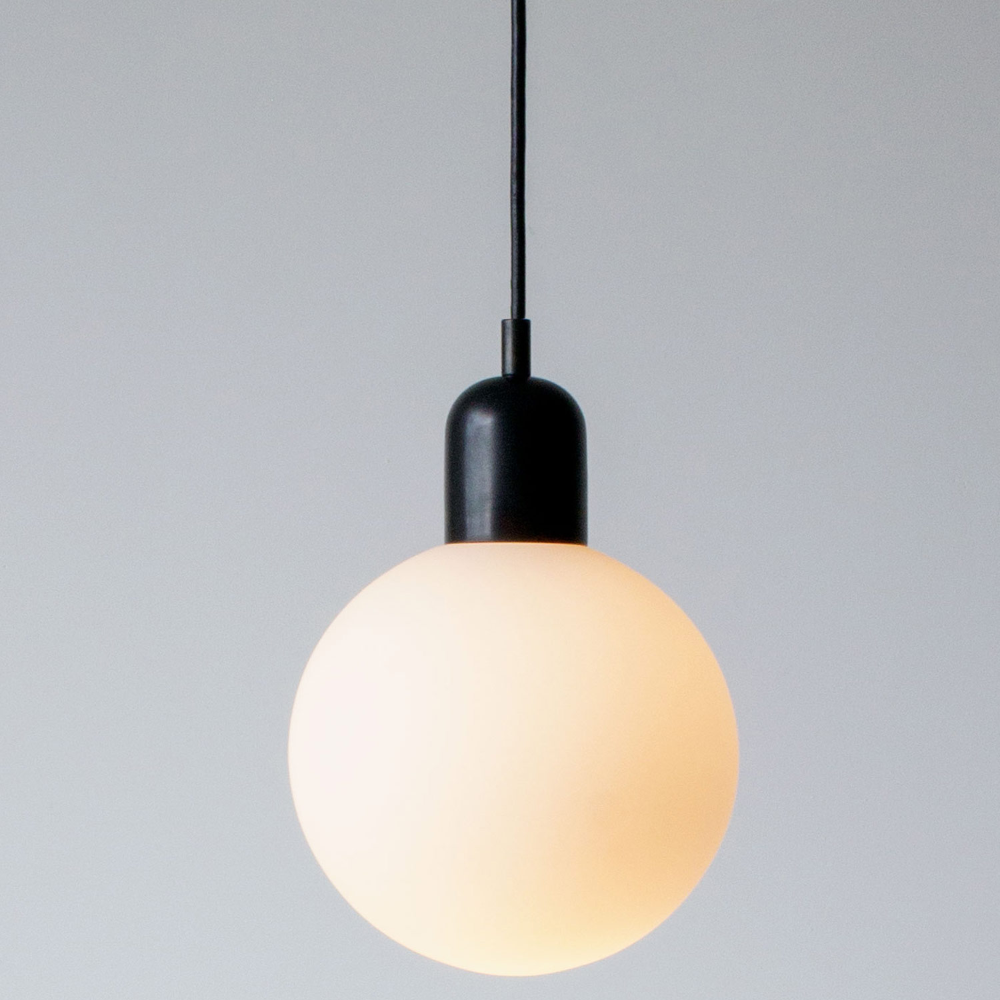 Orb Pendant By In Common With Or 100005 In 2020 Glass Diffuser Blackened Steel Bulb