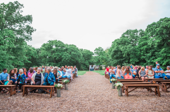 Country chic April wedding at The Grove in Aubrey, TX!