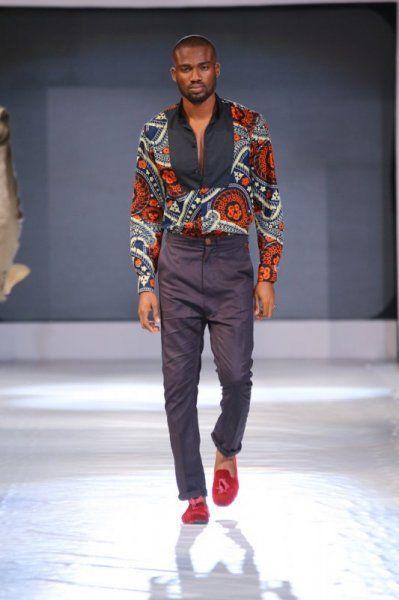 19 Samson Shoboye Lagos Fashion Design Week Photo Credit Kola Oshalusi Insigna Avec Images Mode Masculine Africaine Mode Africaine Mode Africaine Homme