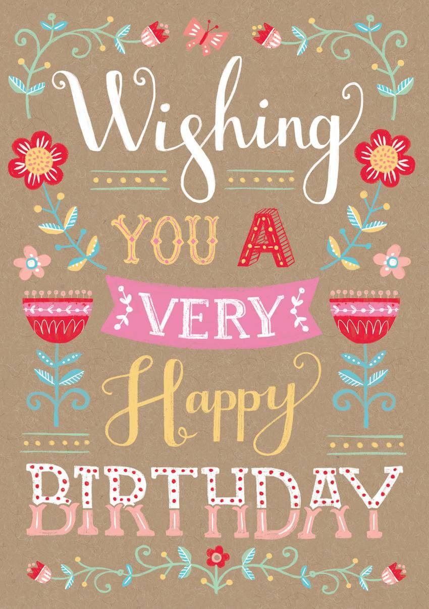 Louise anglicaswishing you a very happy birthdaytypographyg