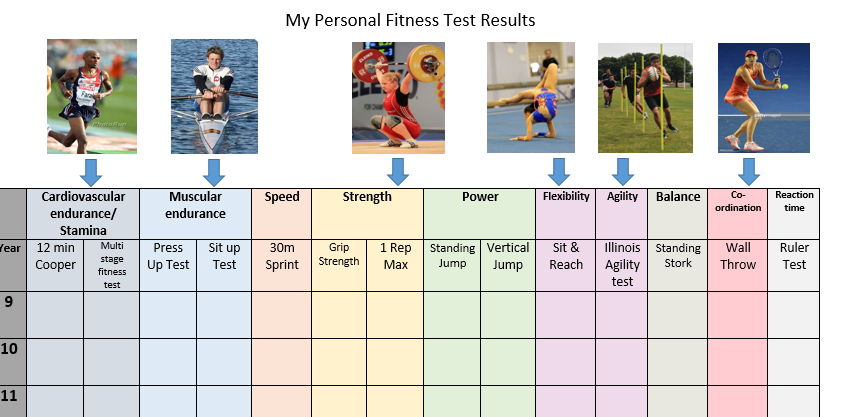 GCSE PE 2016 Fitness testing recording sheet | Teaching | Pinterest ...