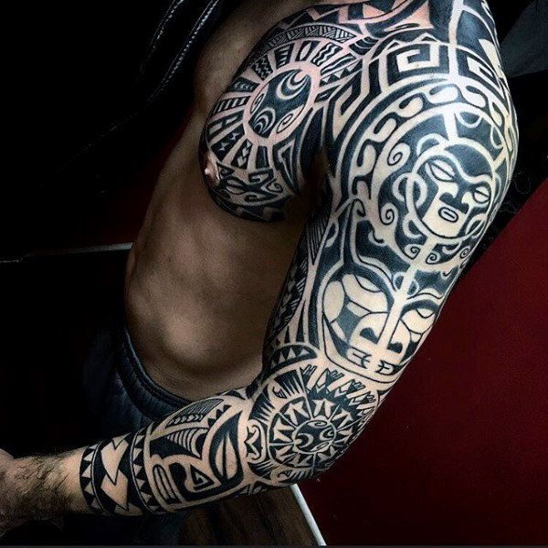 90 Tribal Sleeve Tattoos For Men Manly Arm Design Ideas In 2020 Tribal Tattoos For Men Tribal Arm Tattoos Tribal Tattoos