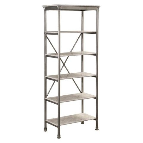 Home Styles Orleans Six Tier Shelving Unit - Marble Laminate - Home Styles Orleans Six Tier Shelving Unit - Marble Laminate