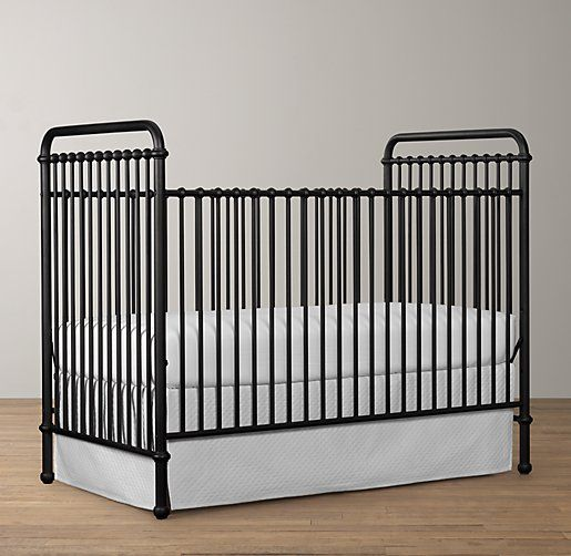 Restoration Hardware Baby | Iron crib, Cribs, Black crib